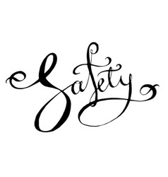 safety lettering word vector image