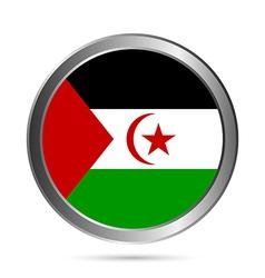 Sahrawi Arab Democratic Republic flag button vector image