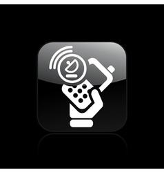 Satellite phone icon vector