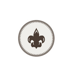 Scout symbol icon outdoor adventure retro design vector