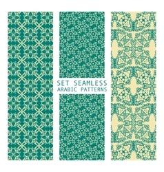 Set of Arabic seamless patterns vector image