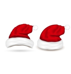 Set of Santa Hats on white background vector