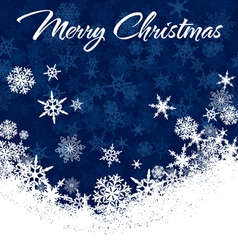 Snowflakes Chrismas Card vector image