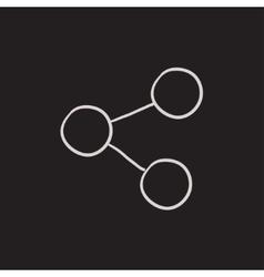Social network sketch icon vector image vector image