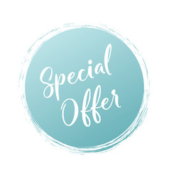 special offer handwritten word with color circle vector image