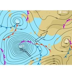 storm depression vector image