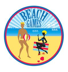 Summer holidays label vector