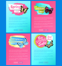 Super spring sale 70 off stickers on web posters vector