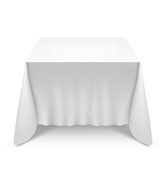 Table with white cloth vector