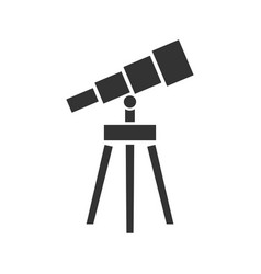 telescope icon flat vector image
