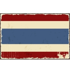 Thai grunge flag vector