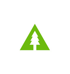 tree letter a logo icon design vector image