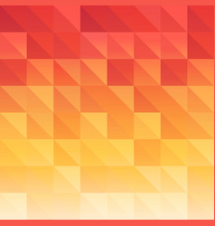 triangle background red orange saturated color vector image