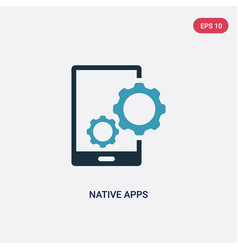 Two color native apps icon from technology vector