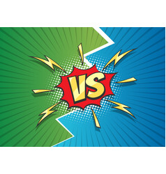 Versus sign duel battle comic frame vector