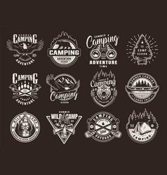 vintage summer recreation logotypes vector image