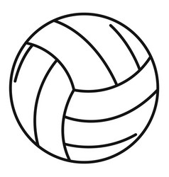 Volleyball ball icon outline style vector