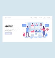Web site design template job recruitment vector