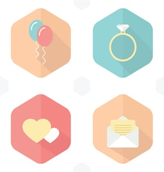 Wedding symbols icons infographic vector