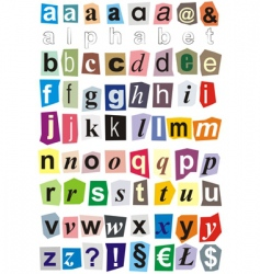 alphabet small letters vector image vector image