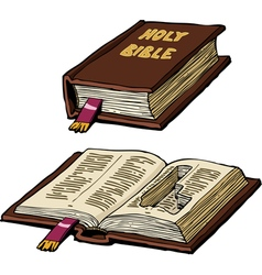 bible with cache vector image vector image