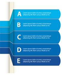 Blue paper infographic vector image vector image