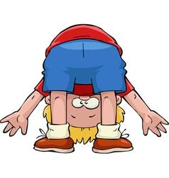 boy upside down vector image vector image