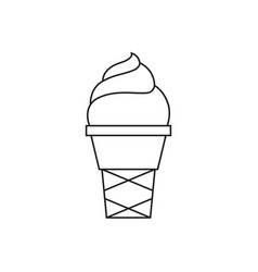 ice cream thin line icon vector image