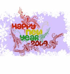 multicolored happy new year 2009 vector image vector image