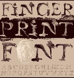 Fingerprint Font vector image