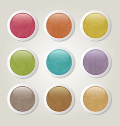 grunge buttons vector image vector image