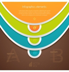 Numbered elements for info graphic vector image vector image