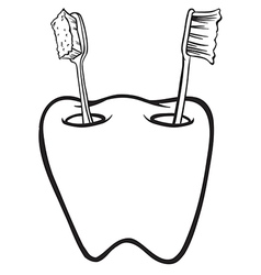 toothbrush holder vector image vector image