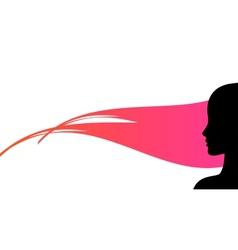woman profile silhouette vector image vector image