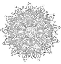 decorative flower round ornament vector image vector image