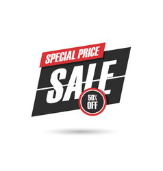 Sale promotion sign vector