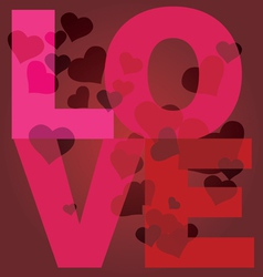 valentine day love message print vector image vector image
