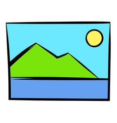 web picture icon icon cartoon vector image