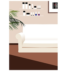 Coach Lounge Background vector image vector image