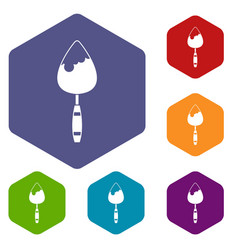 construction trowel icons set vector image