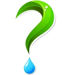 Ecology question mark icon vector image vector image