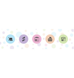 5 lawn icons vector