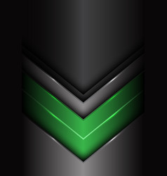 abstract green dark gray metal arrow design vector image