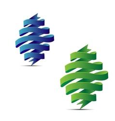 abstract ribbon vector image