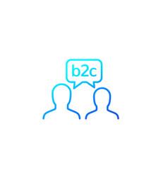 B2c line icon on white vector