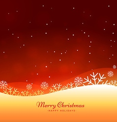 beautiful merry christmas background vector image