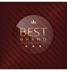 Best brand glass label vector
