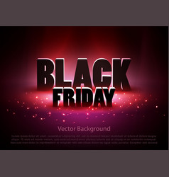 Black friday sale background with red lights vector
