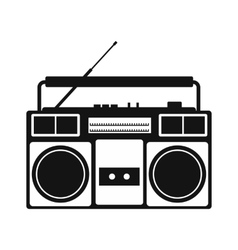 Boombox simple icon vector