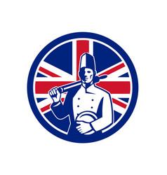 British baker union jack flag icon vector